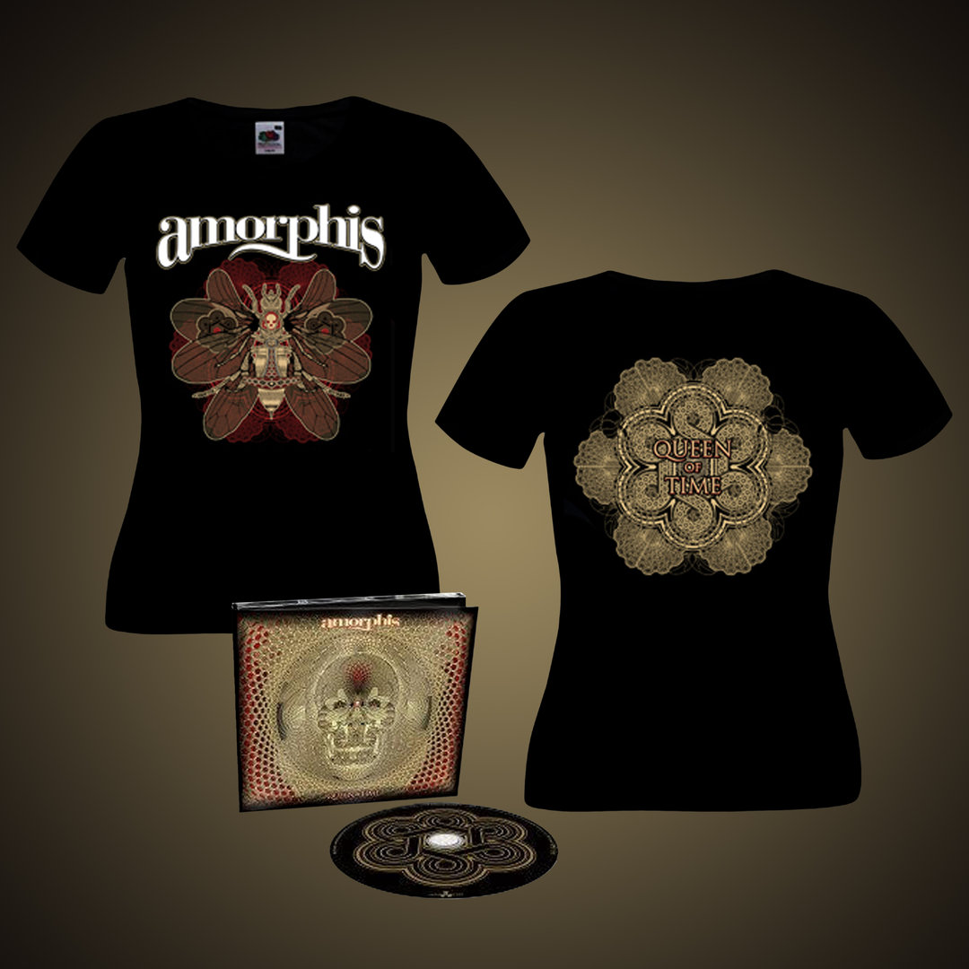 Amorphis: Queen of Time Digipak Bundle (Lady Fit)