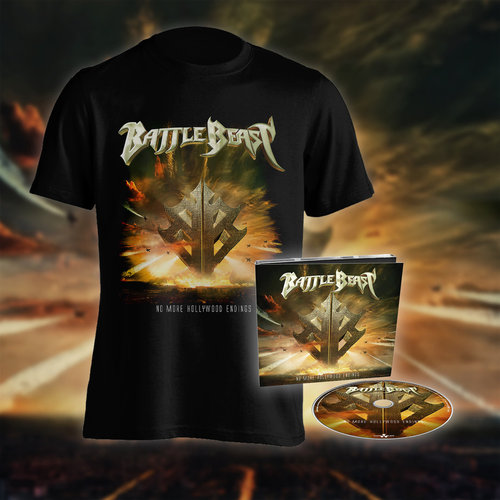 Battle Beast: PRESALE No more Hollywood Endings  Bundle T- Paita  &  Digi