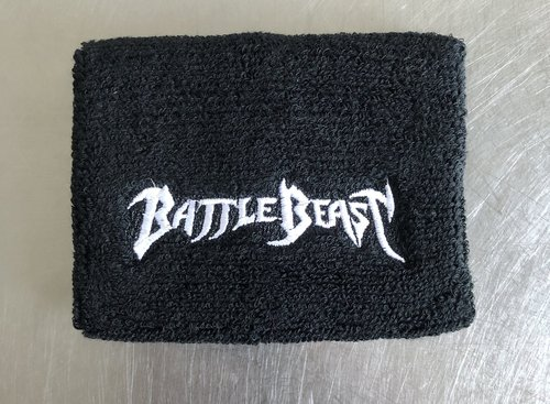 Battle Beast: Sweatband with embroidered Symbol or Logotype