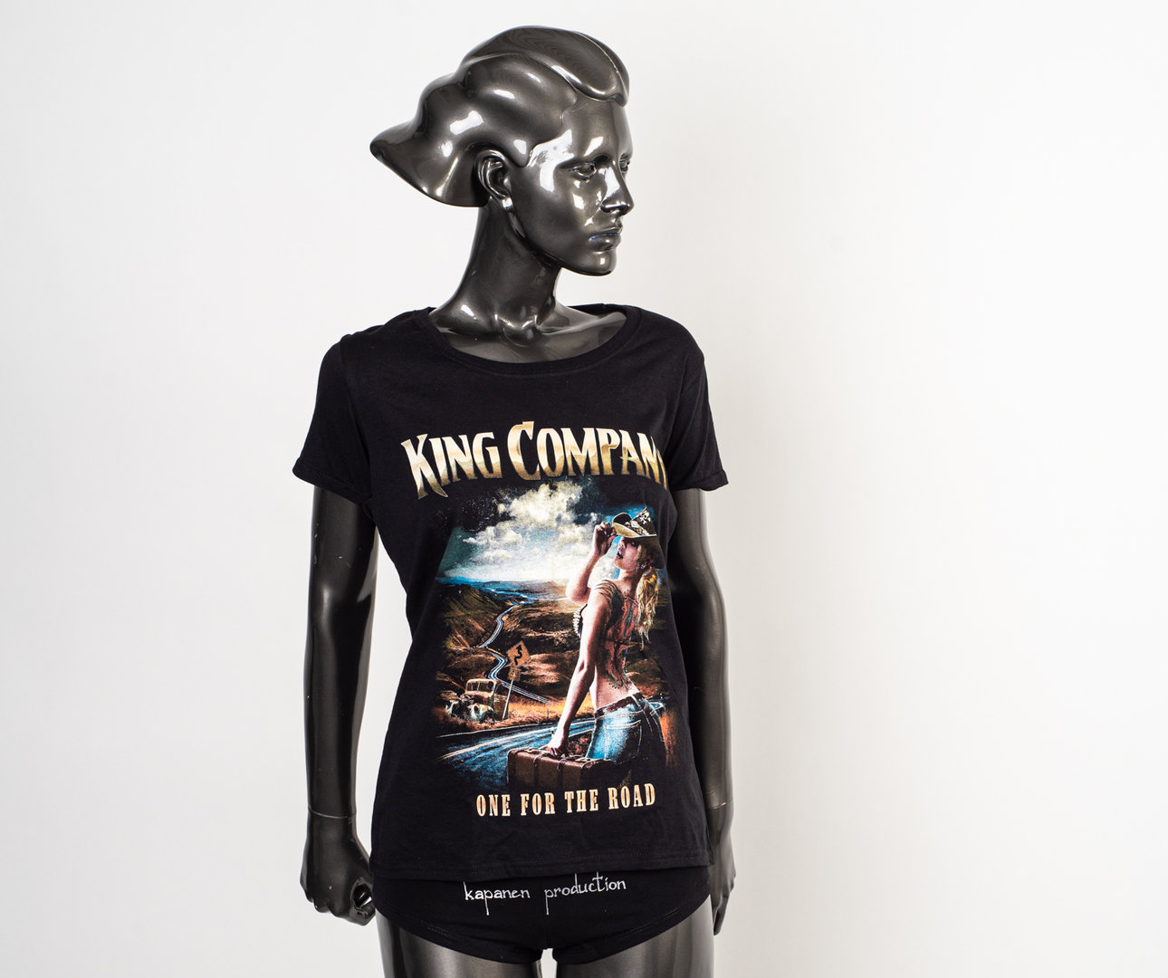 King Company: One For The Road Musta Tyttöpaita