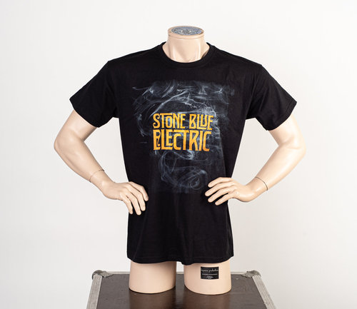 Stone Blue Electric: Smoke Band Logo T-Shirt