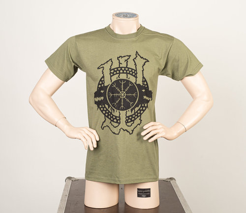 Wolfheart: Army Green T-Shirt