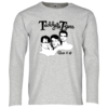 Teddy & The Tigers: Unisex Longsleeve Burn it up Grau melliert