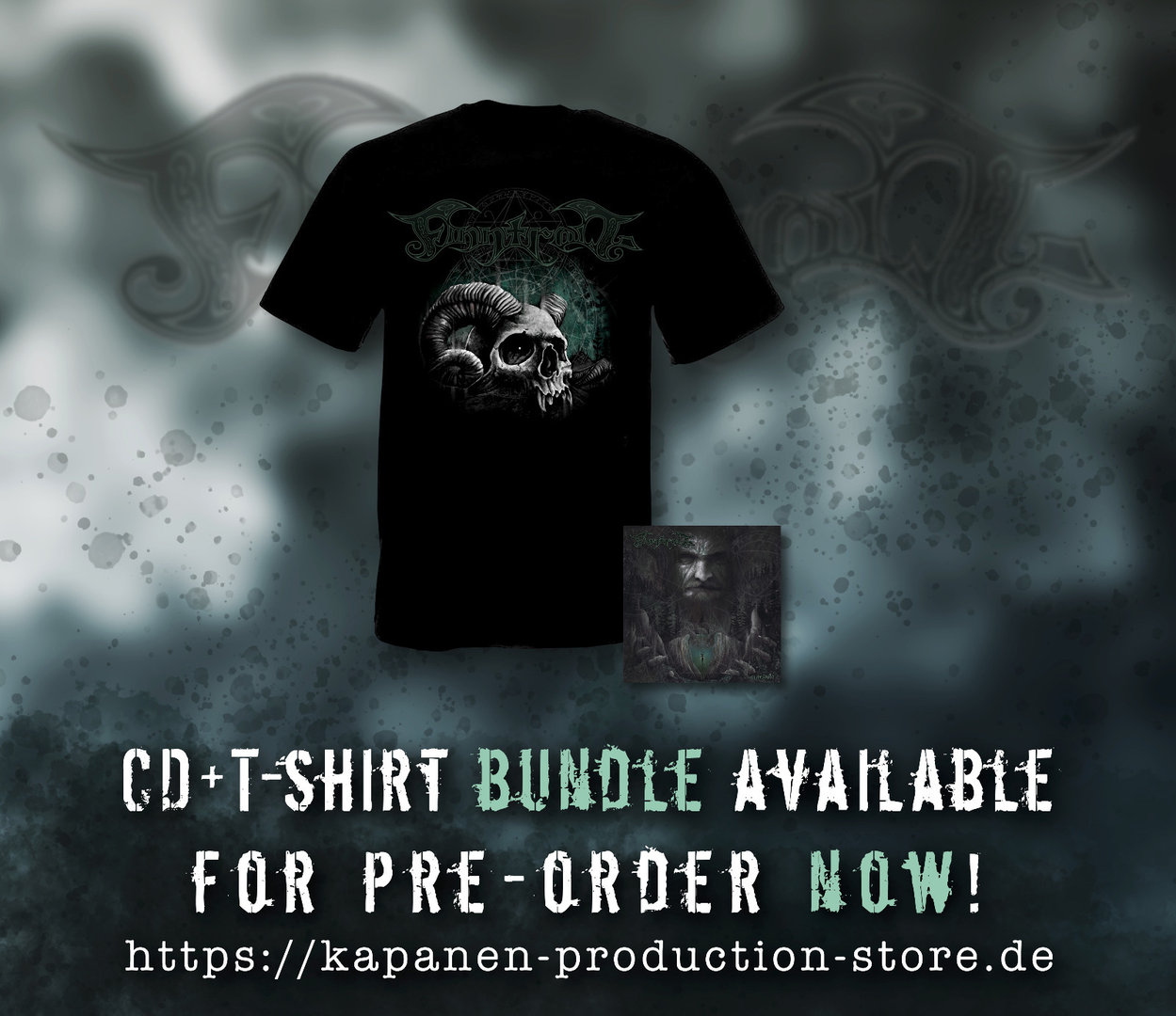 Finntroll: Vredesvävd CD Mediabook, Patch & T-Shirt Bundle